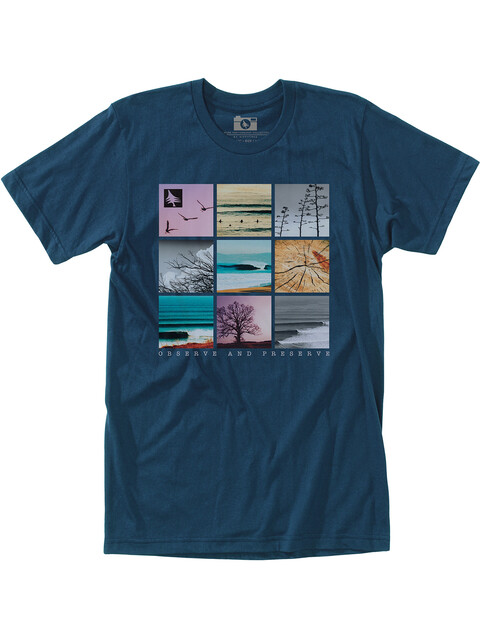 Hippy Tree Gridpoint - T-shirt manches courtes Homme - bleu